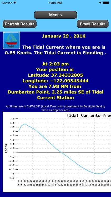 Gulf Coast Trip Planner using Tidal Currents + Tides screenshot-3