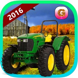 Real Corn Farming Tractor trolley Simulator 3d 2016 – free crazy farmer Harvester cultivator pro driving village sim