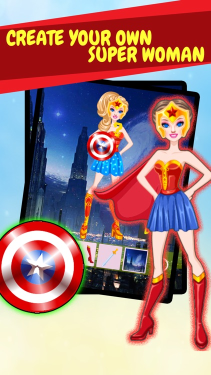 Create Own Super-Hero Woman - Free Character Costume Maker Dress-Up Game