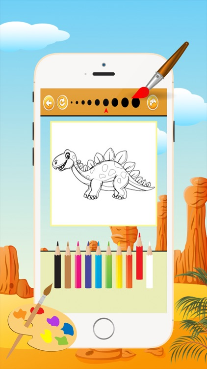 Dinosaur Coloring Book - Drawing and Painting Colorful for kids games free