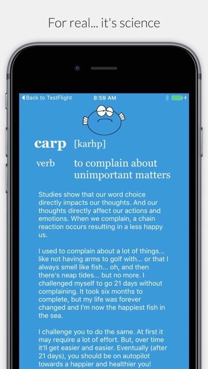 Carp - 21 Day No Complaint Challenge screenshot-4