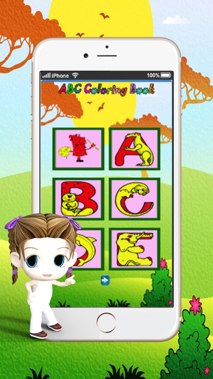 abc draw pad learn to painting and drawing coloring pages