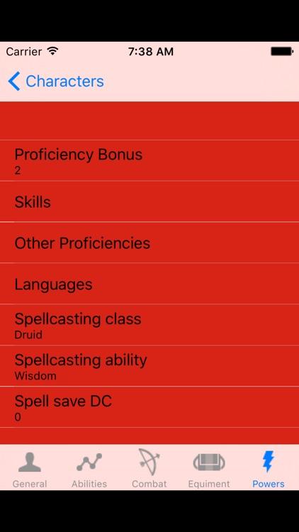 DnD5 Character Sheet screenshot-4