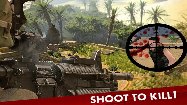 Bravo Sniper. Contract Assassin Frontline Killer Desert Duty Call 2016 screenshot-3