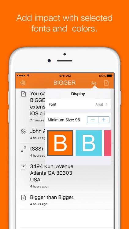 Bigger - Large Text Display screenshot-3