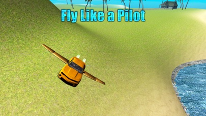 Flying Car Driving Simulator Free: Extreme Muscle Car -