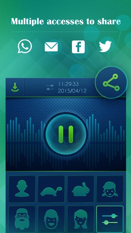 Voice Record Pro - Try the funniest way with funny effects to transform your record voice sound screenshot-3