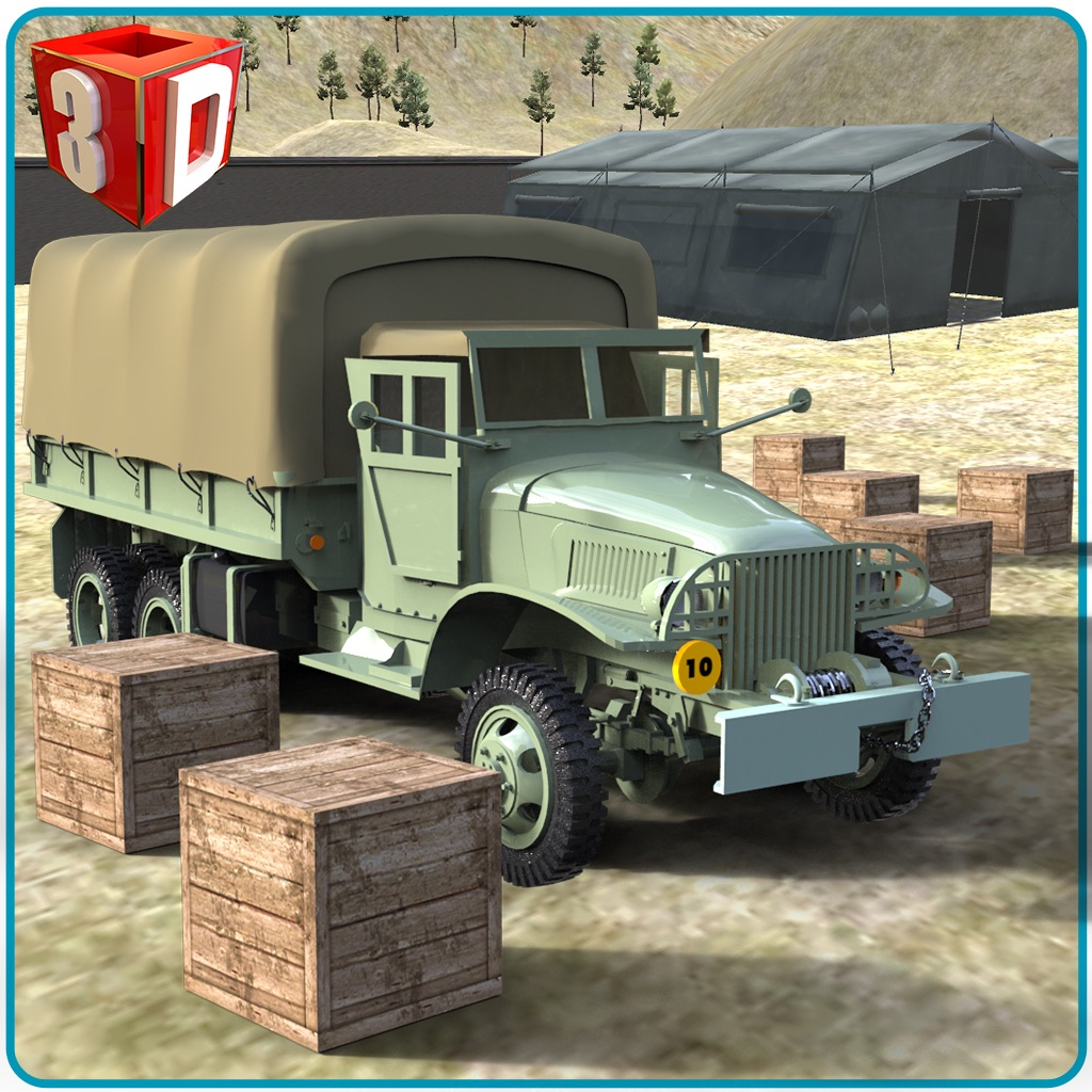 Army Cargo Truck Simulator - Deliver food supplies to military camps in this driving simulation game hack