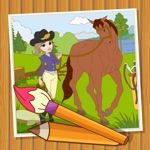 Coloringbook Horses  – Color, design and play with your own little horse and pony