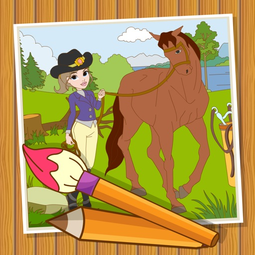 Coloringbook Horses  – Color, design and play with your own little horse and pony iOS App