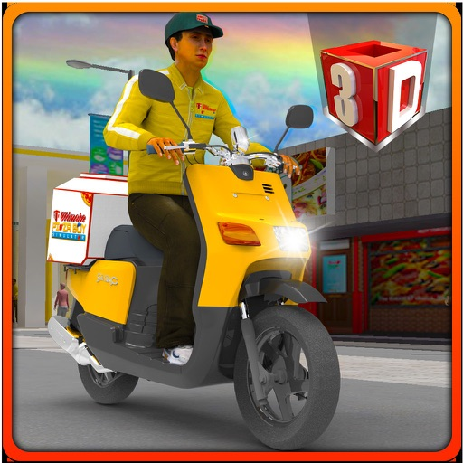 3D Ultimate Pizza Boy Simulator - Crazy motor bike rider and parking simulation adventure game