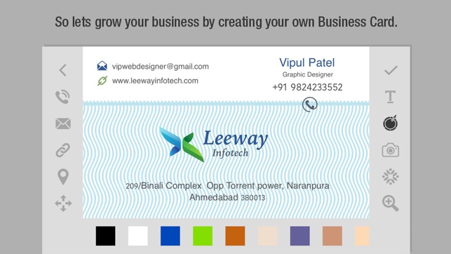 Business card creator create custom design print your own screenshots colourmoves