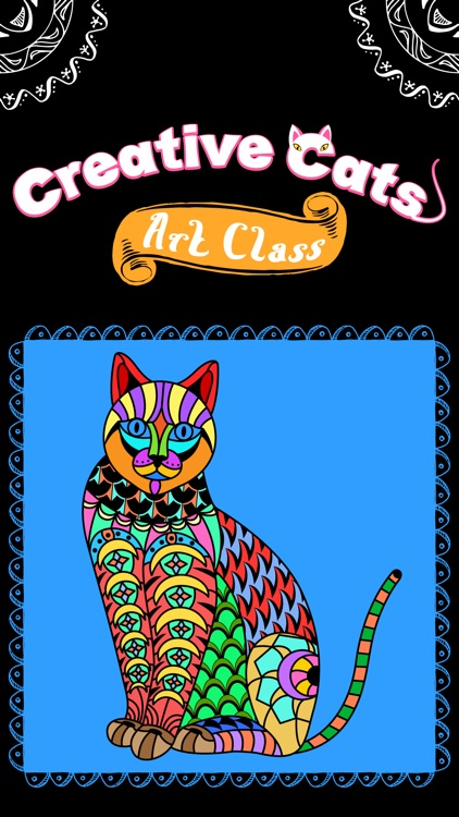 Creative Cats Art Class- Mindfulness Coloring Books for Adults
