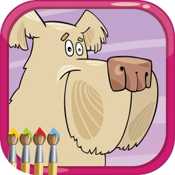 Coloring Books : My Pet Lovely Draw Paint Animal for kids