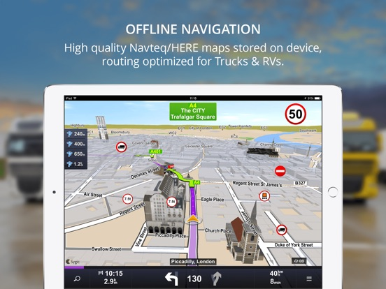 Screenshot #1 for Sygic Truck GPS Navigation
