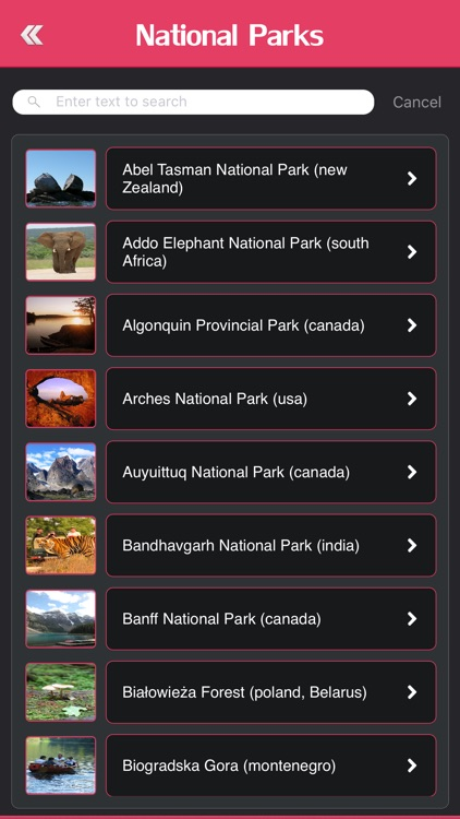 Most Beautiful National Parks of the World screenshot-2