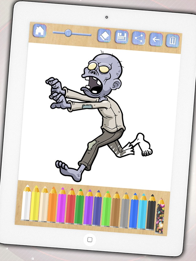 Zombies Malvorlagen – Zombie Malbuch für Jungen und Mädchen im App Store