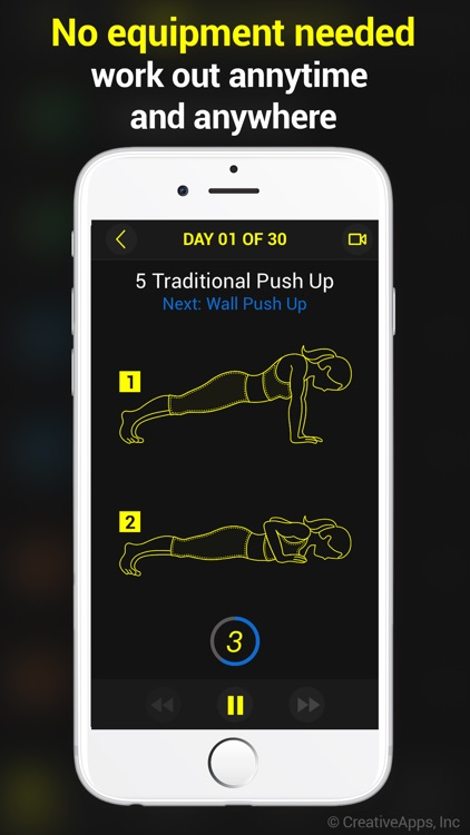 30 Day Push-Ups Trainer Pro screenshot-3