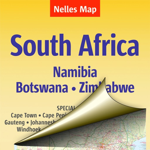 Африка: Юг. Туристическая карта.