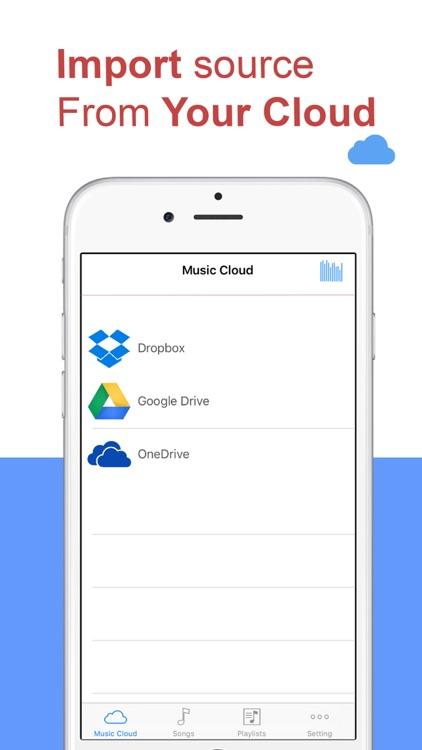 Free Music -  Player & Streamer  for Dropbox, OneDrive & Google Drive