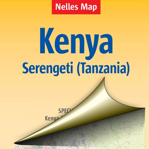 Kenya. Tourist map