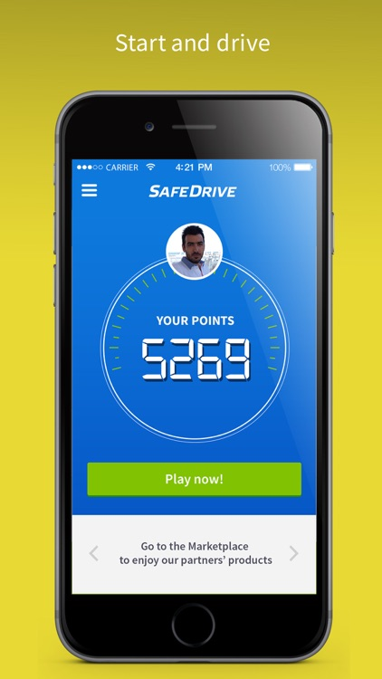 SafeDrive get points for NOT texting while driving