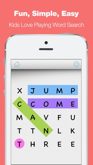 Sight Words Word Search Game