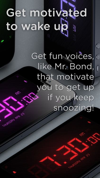 SpeakToSnooze Pro - Alarm clock with voice control commands to snooze and turn off your alarm! screenshot-4