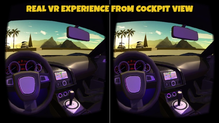 VR Car Driving Simulator : VR Game for Google Cardboard screenshot-3