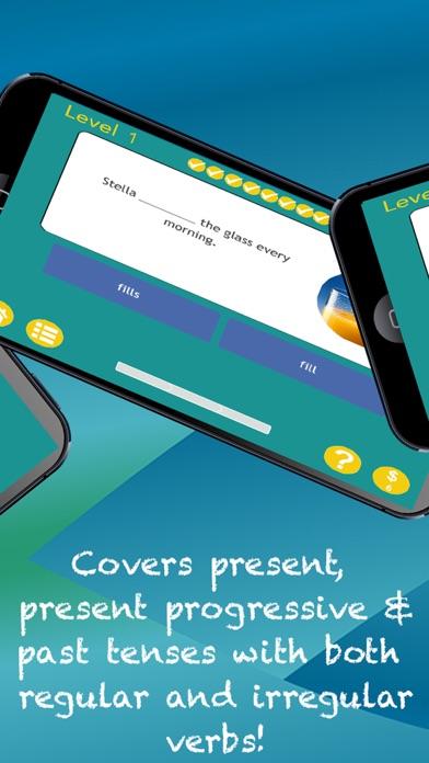 Verb Expert!  Skill Building Practice for Past, Present, Future & Present Progressive Tense screenshot two