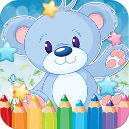 Bear Drawing Coloring Book - Cute Caricature Art Ideas pages for kids