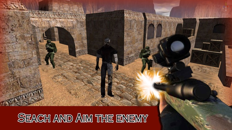 Zombie Sniper 3D - Critical Shooting:  A Real FPS Zombie City 3D Shooting Game screenshot-3