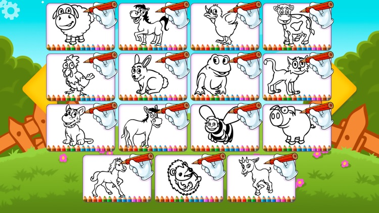 Farm Animals Coloring Book Pro - The creative paint and color animal ...