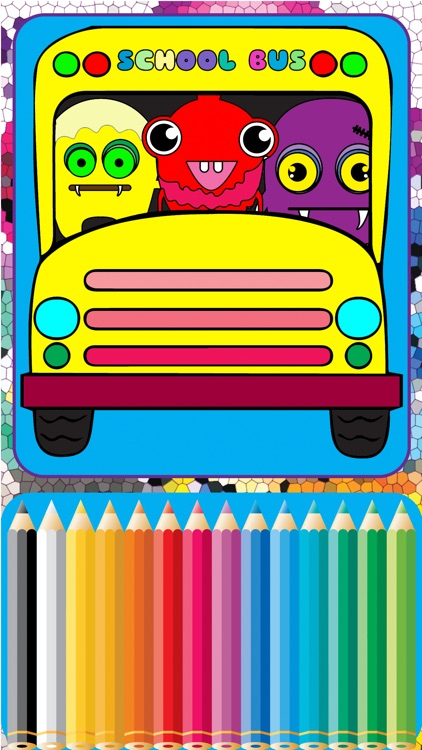My ABC Cartoon School Bus Coloring Games for Kids screenshot-0