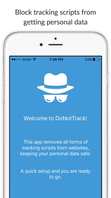 Do Not Track - Block tracking scripts and protect personal data while browsing