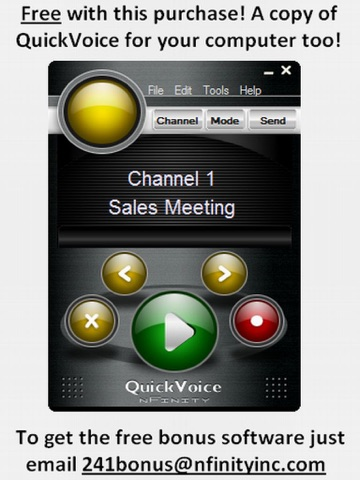 Screenshot of QuickVoice2Text Email (PRO Recorder)