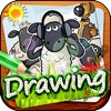 """Drawing Desk Draw and Paint Coloring Book - """"Shaun The Sheep edition"""""""