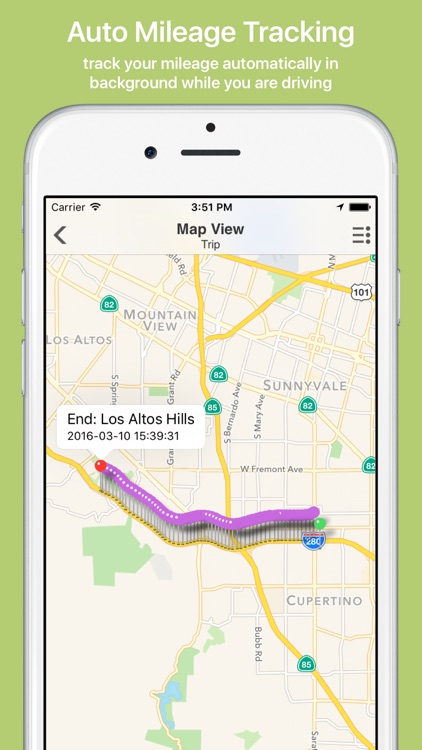 Mile Cloud: mile tracker automatic mileage log for tax deduction with google/apple maps integration