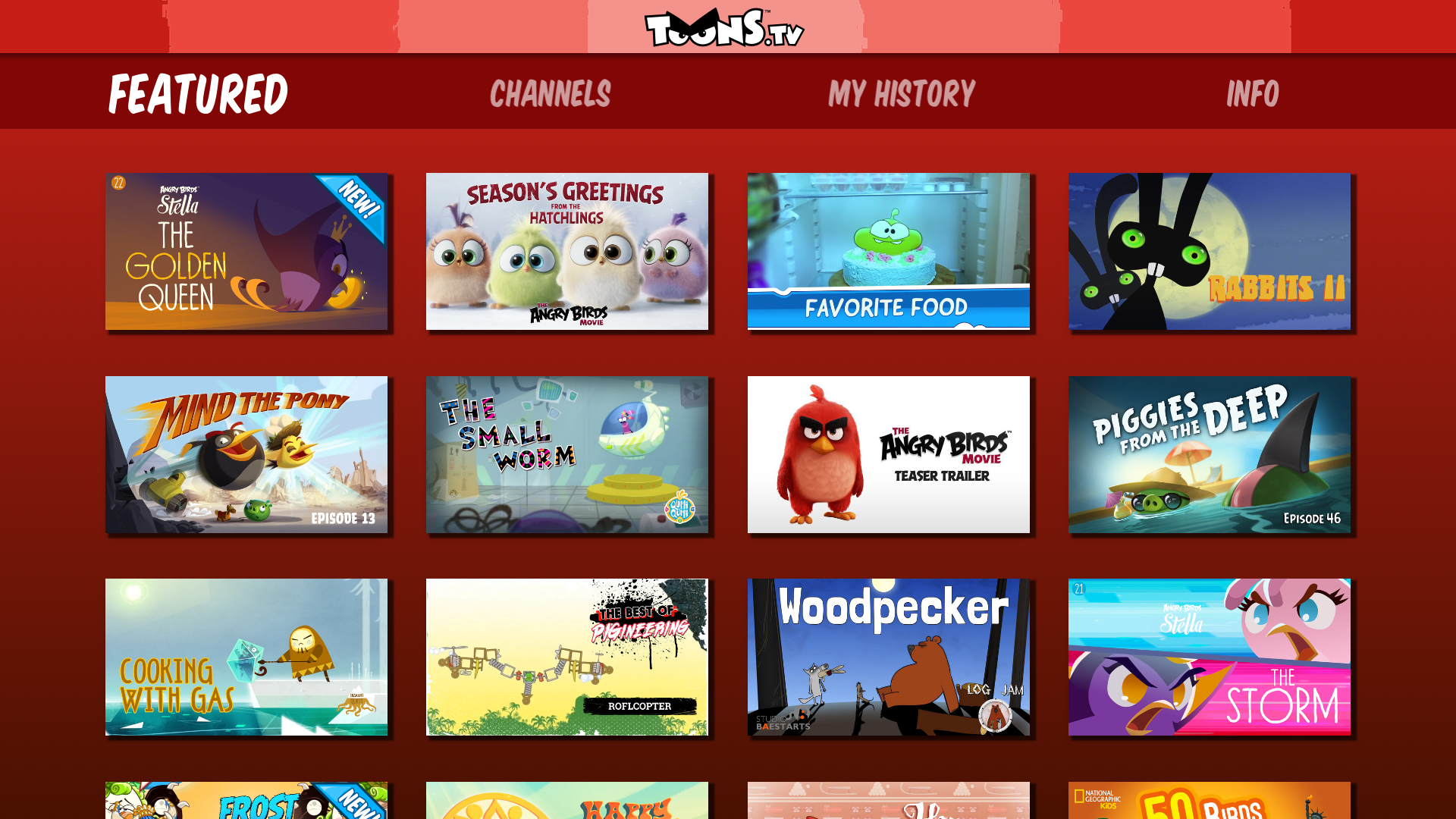 ToonsTV: Angry Birds video app screenshot 11