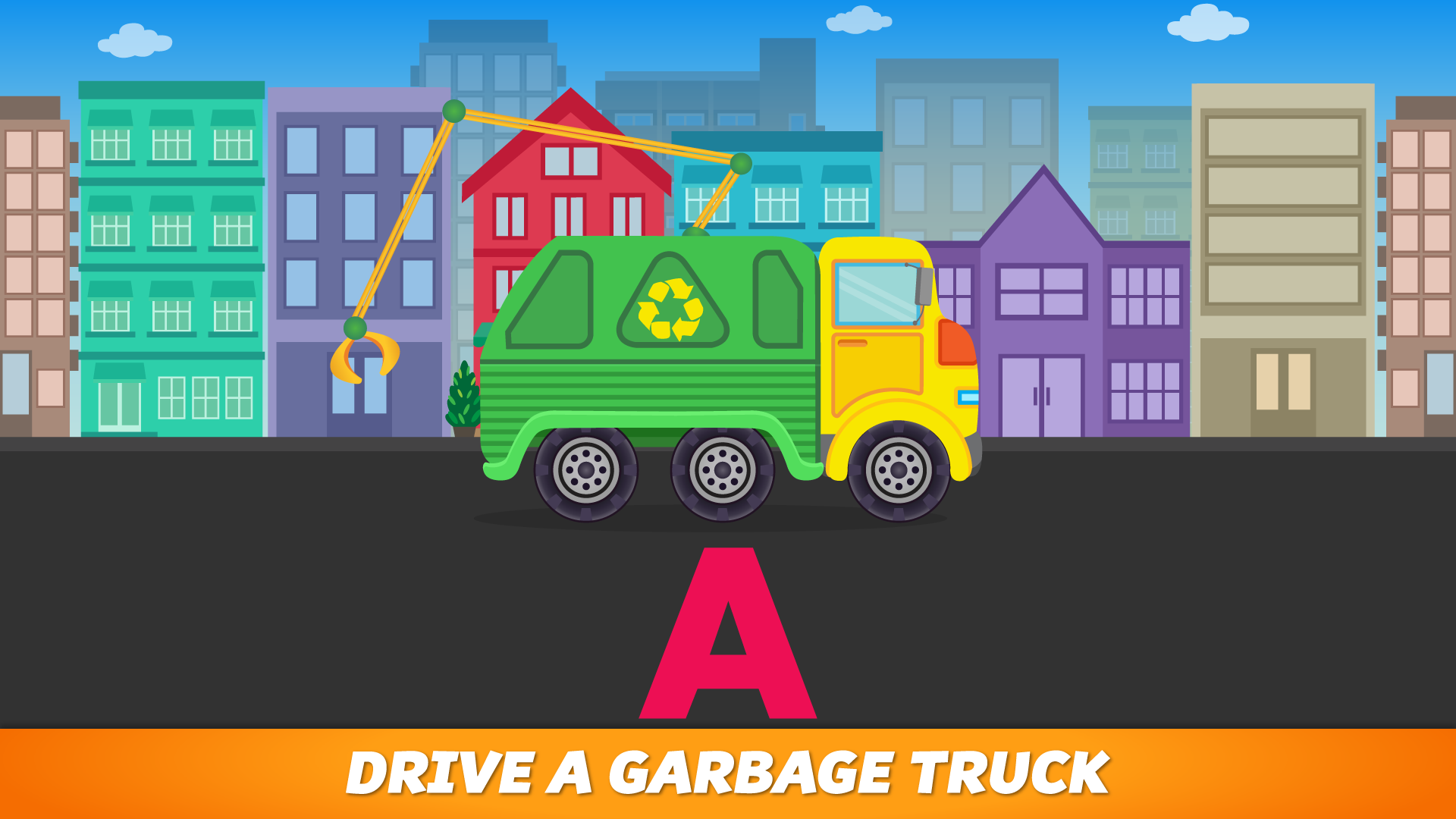 ABC Garbage Truck - Alphabet Fun Game for Preschool Toddler Kids Learning ABCs and Love Trucks and Things That Go screenshot 1
