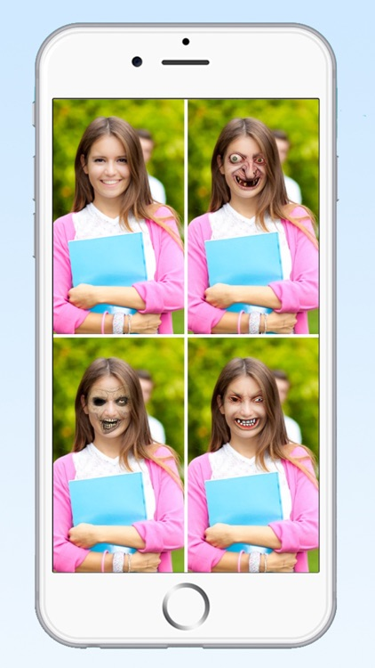 Zombie Photo Booth Editor - Scary Face Maker Camera to Make Horror Vampire, Funny Ghost, and Demon Wallpaper