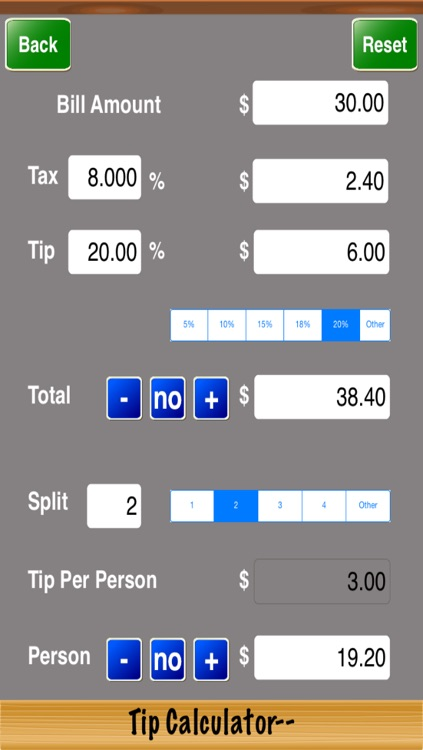 Tip Calculator--