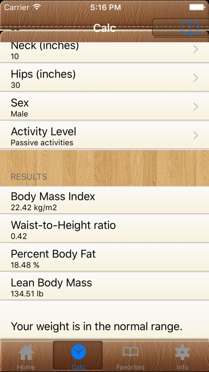 Body Fat Calorie Calc FREE