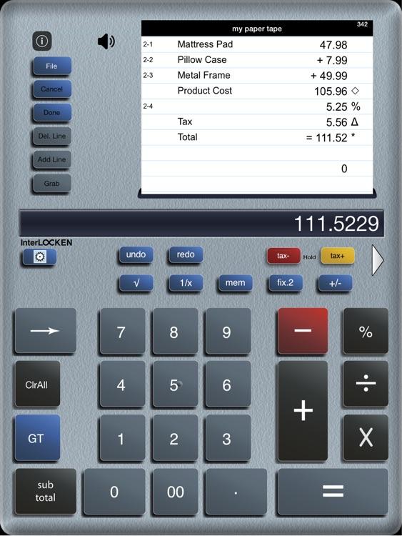 Accountant  Lite Calc iPad