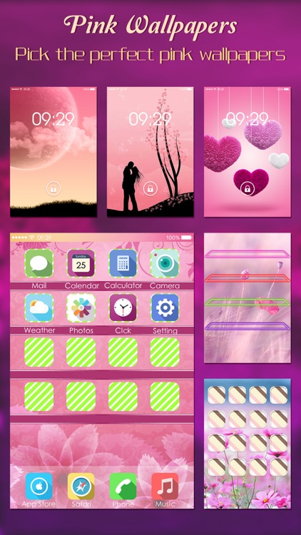 Pink Wallpapers, Themes & Backgrounds Pro - Girly Cute Pictures Booth for Home Screen