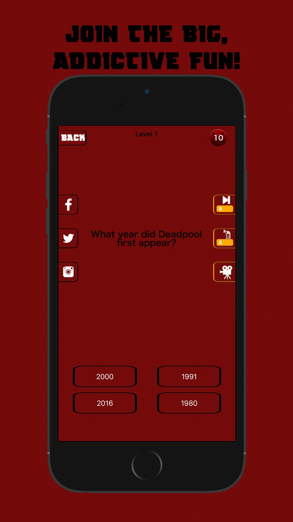 TRIVIAPOOL – Quiz Game for the real Deadpool fan