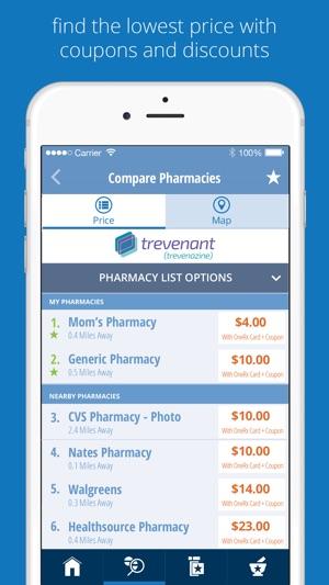 onerx rx savings tool on the app store