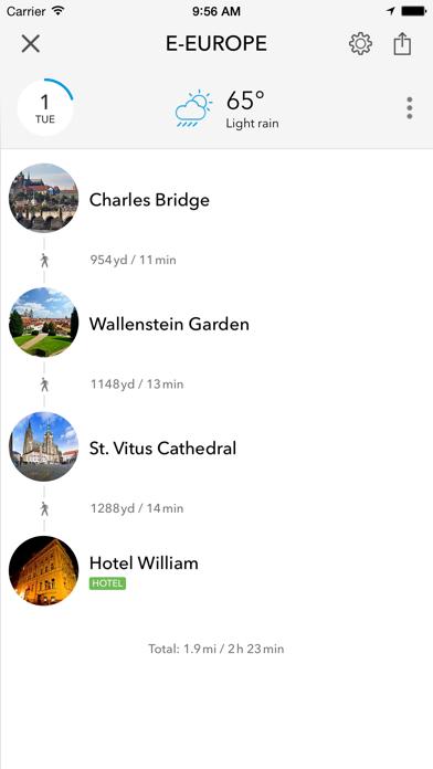 Screenshot of Pianificatore, guida di viaggio e mappa offline per Repubblica Ceca, Slovacchia, Polonia, Ungheria, Russia e Romania4