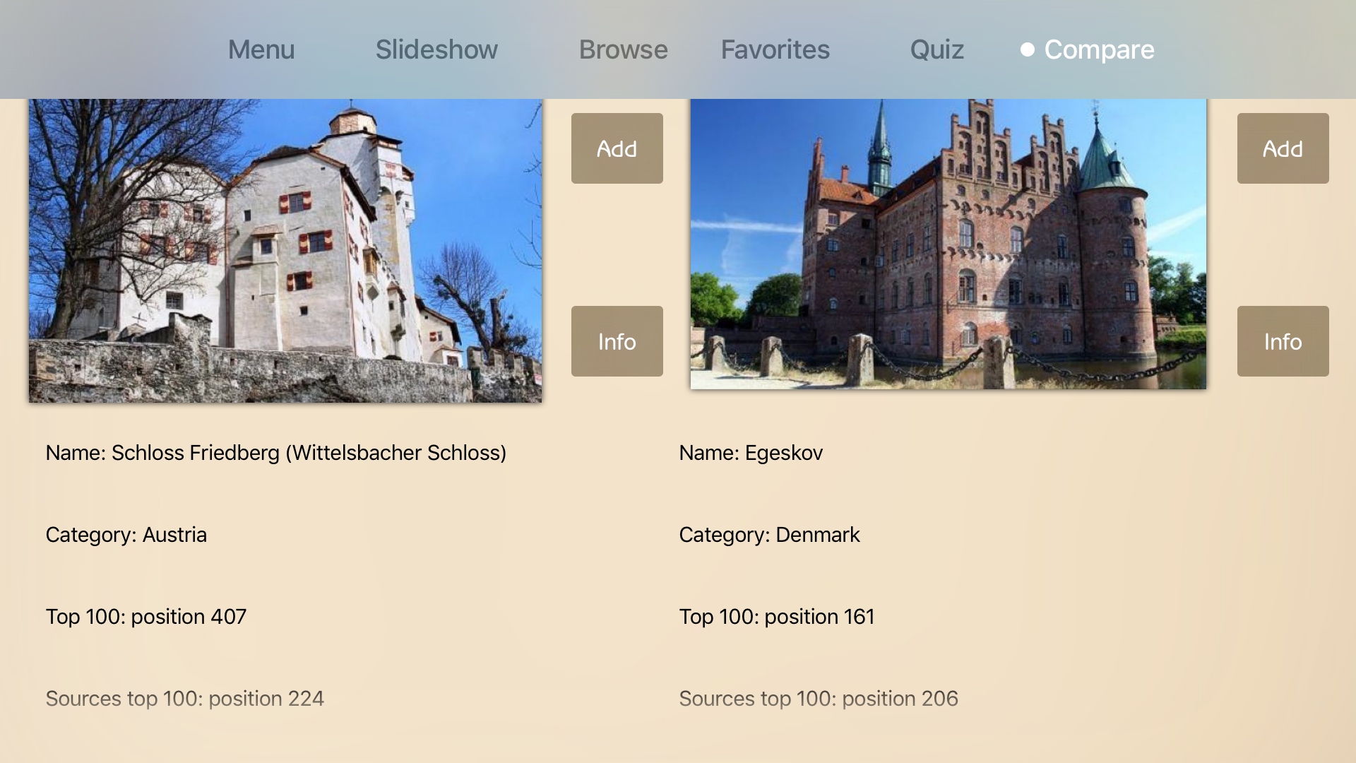 Castles Advisor screenshot 3
