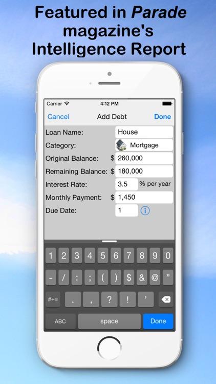 Debt Snowball Pro - Pay Off Your Debt Finance Calculator screenshot-4